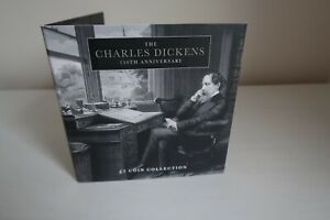 2020 150th Anniversary of Charles Dickens £2 Two Pound 5 Coin BU Set Brand New