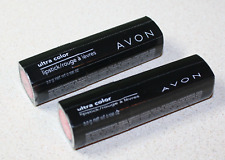(lot of 2) Avon ultra color lipstick-(1)Beyond Pink/Rose Plus & (1)Fuchsia Fever