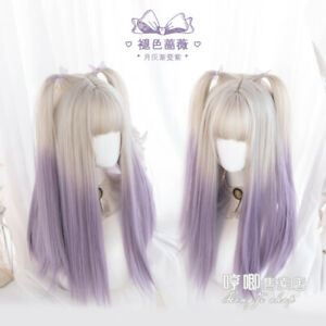 Lolita Cosplay Princess Straight Hair Sweet Japanese Ombre Fashion Wig Hairpiece