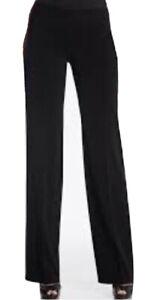 White House Black Market Black Trouser Dress Pants Slacks Size 0 Reg 0R Side Zip