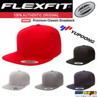 Flexfit Premium Classic Snapback Hat, Baseball Blank Plain Cap Street #6089M