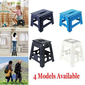 Step Stool Portable Plastic Foldable Chair Outdoor Bathroom Kitchen Adult Kid AU