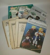 lot of 10 Cabbage Patch and other dolls sewing patterns All Uncut & Ff!