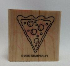 Stampin' Up 2002 Girlfriend Accessories Rubber Stamp Pizza Slice Only