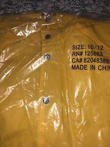 Rain Coat / New  In Package / 10-12 Children's Size