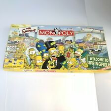 The Simpsons Monopoly Board Game Welcome To Springfield Great Condition
