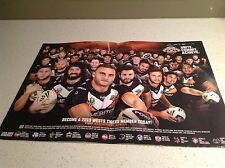 NRL WESTS TIGERS OFFICIAL  2015 TEAM  POSTER GENUINE  ITEM BRAND NEW