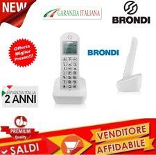 TELEFONO CORDLESS MONO ECO DECT GAP DISPLAY RUBRICA BRONDI MARIOT NUOVO GARANZIA
