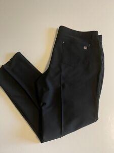 Footjoy FJ Athletic Fit Mens 40x29 Black 5 Pocket Performance Golf Pants EUC