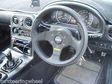 MOMO TEAM 280MM LEATHER Track Racing Drifting Steering Wheel - TEA28BK0B