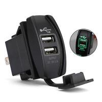 Dual USB Socket Charger Fit For UTV Can Am Polaris RZR Ranger 900/1000 XP 750 GR