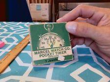 MARCEL & CIE DECIMAL 7 JEWELS ANTIMAGNETIC POCKET TIMER WITH ORG BOX