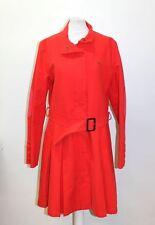 THOMAS BURBERRY femme en Coton Rouge ceinture dissimulée près Trench Coat Taille L