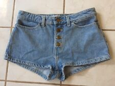 American Apparel Jeans NEW! Light Wash High Rise Button Fly Denim Shorts Sz 27