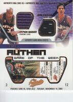2002-03 Fleer Authentix Jersey Game of the Week Stephon Marbury/John Stockton