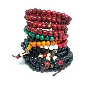 XL Tibetan 108 Mala Prayer 8mm Beads Sandalwood Buddhist Bracelet Necklace Yoga