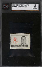 1969 70 OPC O PEE CHEE STAMPS FRANK MAHOVLICH KSA 8 MINT Maple Leafs Redwings