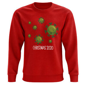Unisex Christmas 2020 Germs Fair Isle Sweatshirt Funny Present for Him or Her