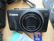 BLACK Canon PowerShot SX600 HS 16.0MP Digital Camera - V.G.C.