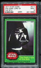 1977 Topps Star Wars Green Series 4 #217 THE DARK LORD OF THE SITH PSA 9 MINT