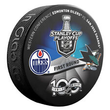 2017 EDMONTON OILERS vs SAN JOSE SHARKS Stanley Cup Playoff Hockey Puck