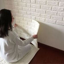 US SHIP 60X60cm Stone Brick Pattern 3D White PE Foam Wallpaper Self-adhesive SUI