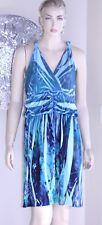 Pulitzer Marianne Dress halter summer blue green print 2X overhead cool chic