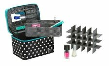 Portable Zippered Nail Valet - Storage for 24 Nail Polish Bottles by Caboodles