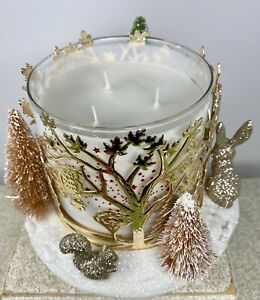 NEW Bath & Body Works 2020❄️Winter Forest 🐇 🦊 🐿 Animals 3 Wick Candle Holder