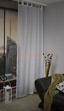 Schlaufenschal -incl. U - Band Homing  Vorhang Gardine Leinenoptik 140/245 Weiß