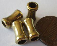 24 Vintage Plated Brass Barbell Beads w/4mm Hole (11mm x 6mm)