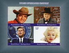 Madagascar 2018 MNH Elvis Presley JFK Marilyn Monroe Churchill 4v Impf MS Stamps