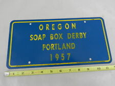 VINTAGE 1957 OREGON SOAP BOX DERBY LICENSE PLATE- BOY SCOUTS- INDIAN GUIDES-