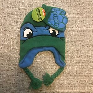 Nickelodeon Teenage Mutant Ninja Turtles TMNT Kids Cap w/Pom Hat & Mittens New
