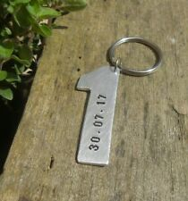 ❤ 1st Wedding Anniversary Gifts KEYRING Keychain PERSONALIZED First DATE Love ❤