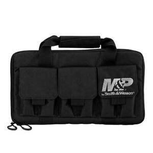 Smith & Wesson M&P Pro Tac Padded Double Handgun Case with Ballistic Fabric Cons
