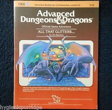UK6 All That Glitters... Advanced Dungeons & Dragons Adventure Module D&D 9126