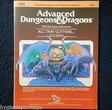 UK6 todo lo que reluce.. Advanced Dungeons & Dragons Aventura módulo D&D 9126