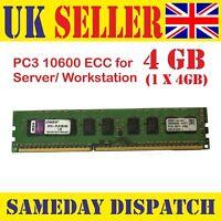Kingston KTH-PL313E/4G 4GB PC3-10600E 1333MHz CL9 ECC Server DIMM 240-Pin RAM