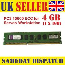 Kingston KTH-PL313E/4G 4GB PC3-10600E 1333MHz CL9 Ecc Para Servidores Dimm 240-Pin Ram