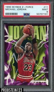 1996 Skybox Z-Force #11 Michael Jordan Chicago Bulls HOF PSA 9 MINT
