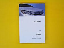 lexus car truck owner operator manuals ebay rh ebay com 2010 lexus is 250 owners manual 2010 lexus rx450h owners manual