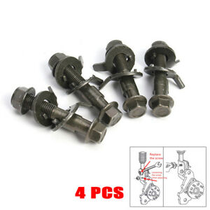 4PCS 14mm Steel Car Wheel Alignment Adjustable Camber Bolts 10.9 Intensity Good