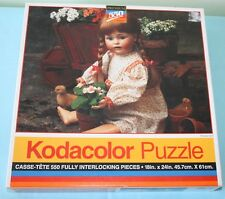 NEW KODACOLOR 550 Piece Jigsaw Puzzle BABY DOLL SEALED ROSE ART FLOWER GIRL