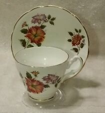 Vintage Royal Ascot Bone China Floral Tea Cup and Saucer  Made in England