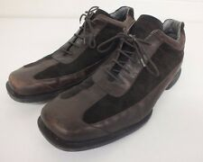Kenneth Cole Brown Leather & Suede Shoes w/Silver Technology US Men's 11 LOOK