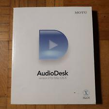Audio Desk Version 2 for Mac OS X - nur Handbuch Englisch User Guide in English
