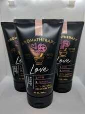 3 Bath & Body Works Love Aromatherapy Rose & Vanilla Body Scrub 9.5 oz