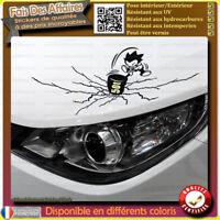 Stickers Autocollant humour réparation d'éraflure cache rayure bosse ou tache