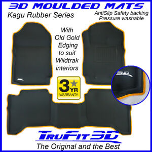 Fit Ford Ranger Wildtrak 2011-2021 Genuine 3D Rubber Floor Mats custom OG edge